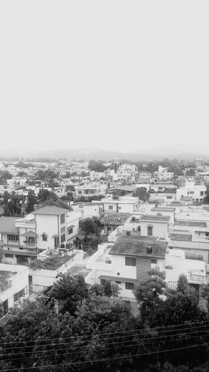 Residence Town Dehradun India Evening Cloudy Sky Mountains Himalayas Foothills Foothills Of The Himalayas Buildings Black & White Mobile Photography