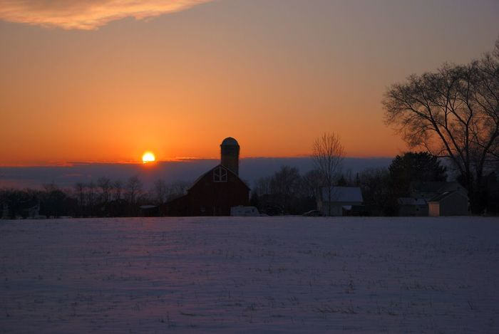 Sunset Tree Beauty In Nature No People Nature Sky Winter Cold Temperature Snow Outdoors New Jersey Photography New Jersey Tranquil Scene Barns Nature Weather Winter Beauty In Nature