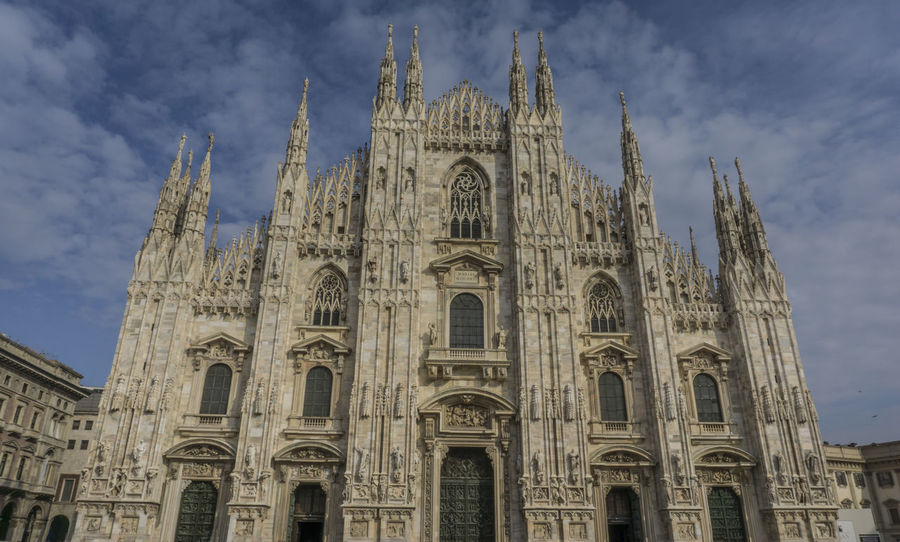 architecture Architecture Building Exterior Built Structure Cloud - Sky Day Duomo History Italia Italie Italien Italy Italy❤️ Italy🇮🇹 Low Angle View Mailand Milan Milano No People Outdoors Place Of Worship Religion Sky Spirituality Travel Destinations ıtaly