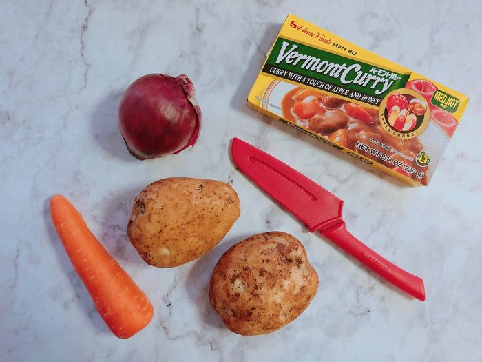 Ingredients for tonight's dinner 🥕 🥔🥔 🍴 🍛 In My Mouf Japanese Curry Vegetarian Food Fresh Produce Ingredients