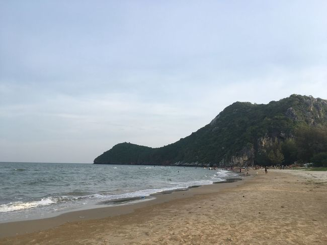 The Beach  Sea Beach Water Sky Land Beauty In Nature Scenics - Nature Tranquil Scene Cloud - Sky Day Mountain Sand Tranquility Nature Non-urban Scene No People Outdoors Horizon Over Water Horizon