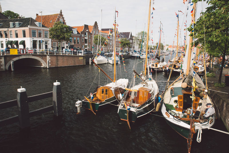 Architecture Haarlem Haarlemse Haarlemse Vaardagen 2017 Architecture Boats Building Exterior Built Structure Canal City Cruise Day Dutch Mast Mode Of Transport Moored Nature Nautical Vessel No People Outdoors River Ships Sky Spaarne Transportation Travel Destinations Vaardagen Water