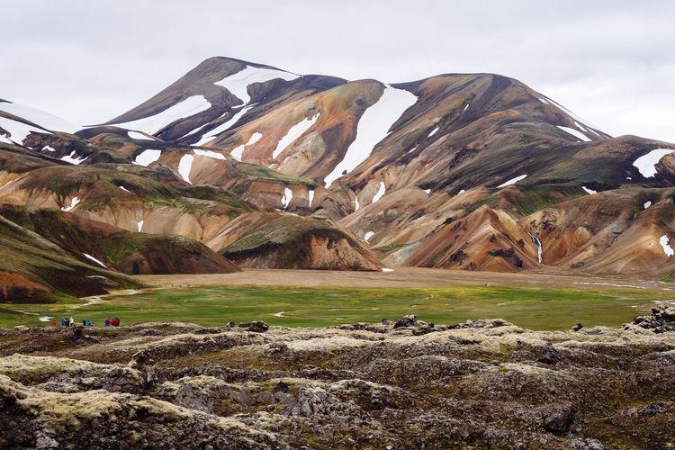Landscape Outdoors Scenics - Nature Mountain Environment Nature Iceland Landmannalaugar Volcanic Landscape Travel Destinations Travel Outdoor Beauty In Nature Hiking Trekking Friðland Að Fjallabaki Fjallabak Nature Reserve
