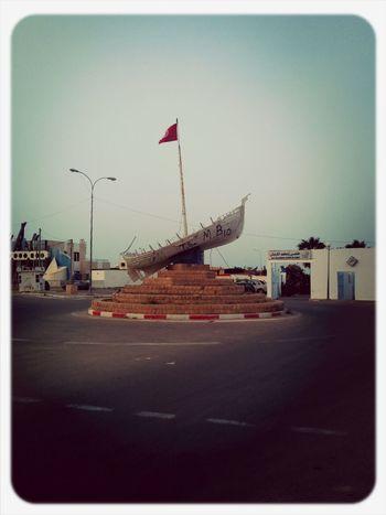 Fishing Boat Tunisian Flag Roundabout