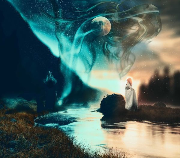 Duality Surrealist Art Surrealism And Fantasy Art Surrealist Art Water Sea Nature Motion Sky People Beauty In Nature
