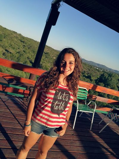 Summer One Young Woman Only Long Hair Outdoors Day Sky
