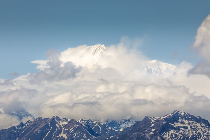 Denali didn't show us her full beauty and preferred to hide her behind thick clouds Alaskan Nature Denali Mount Denali The Great Outdoors - 2018 EyeEm Awards The Traveler - 2018 EyeEm Awards Alaska Beauty In Nature Cloud - Sky Cold Temperature Day Environment Formation Landscape Mountain Mountain Peak Mountain Range Mountain Ridge Nature No People Non-urban Scene Outdoors Scenics - Nature Sky Snow Snowcapped Mountain Tranquil Scene Tranquility Winter