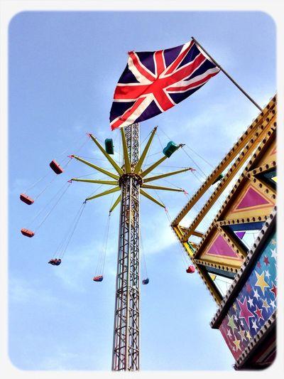 Enjoying Life Union Jack Going On Rides Fun Fair