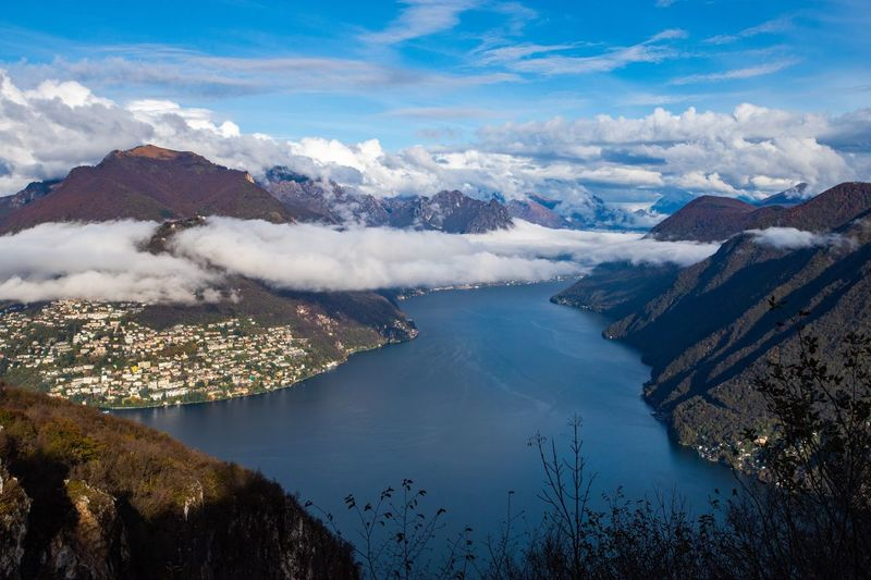 Scenic view from monte san salvatore