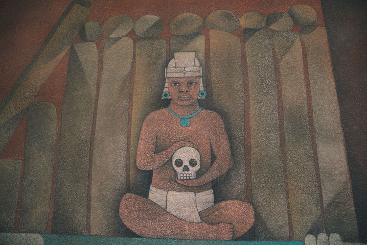Close-up Culture Day Dead Etnic Human Representation Male Likeness Mexico Mystic Prehispanic Teotihuacan