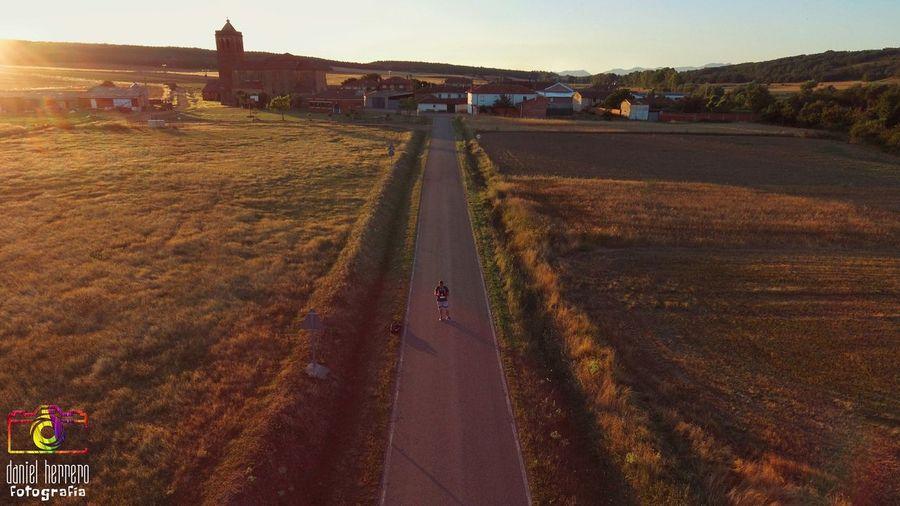 sonrrie y se feliz con lo que haces.... Sky Landscape Tractor Drone  Historic Poppy Agricultural Equipment Agricultural Field Combine Harvester