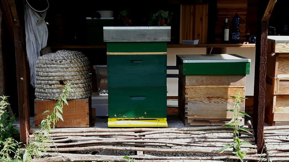 Beehives Bijenkorf Bijenkorven The Honey Factory Biological Garden Biological Food Healthylifestyle Bio Food Breathing Space Workingspace Investing In Quality Of Life Biological Farming Self-sufficient Lifestyle No More Money