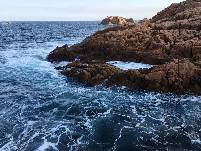 Sea Water Rock Beauty In Nature Rock - Object Solid Tranquility Scenics - Nature Nature Beach Land Sky Rock Formation Tranquil Scene Day No People Waterfront Idyllic Wave Outdoors