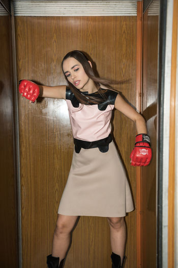You Gotta Fight for Your Right to Party Elevator Fashion Latex Dress  Linas Was Here Pink Action Beauty Boxing Gloves Brunette Model Post Soviet Interior Stuck Wooden The Fashion Photographer - 2018 EyeEm Awards The Portraitist - 2018 EyeEm Awards