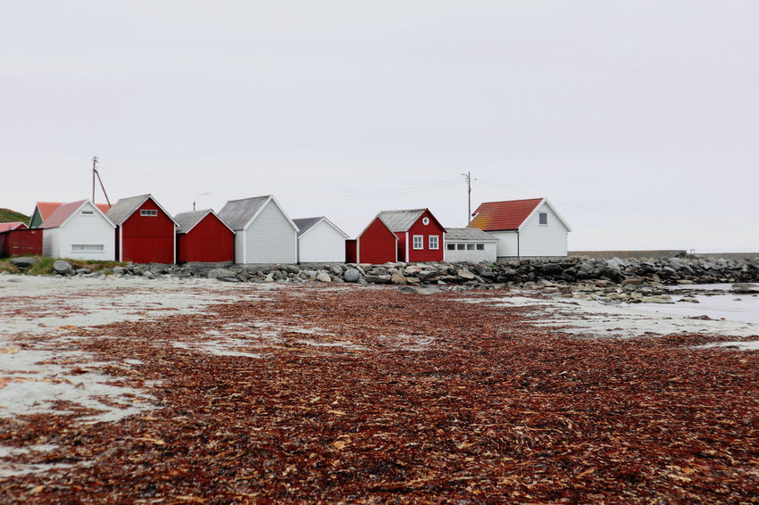 Ølberg sea houses Beach Sea Sand Red Sky Horizon Over Water Beach Hut Building Hut Stilt House Historic Settlement Exterior Building Exterior Sand Dune