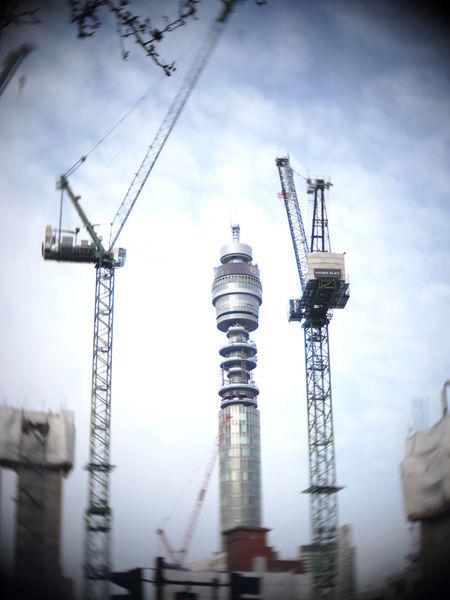 BT Tower London Industry Crane in London Postcode Postcards