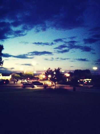 midnight sky with cars