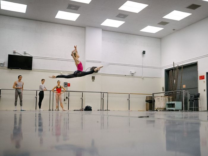 Emilie New York City Ballet Ballerina Beautiful Jump Flying Dance Rehearsal Capture The Moment