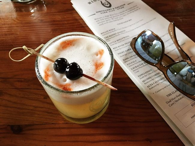 a little too much smoke in the air for a run or hike today. instead we hiked down old main and found a classic whiskey sour. 🥃✨ Park City, Utah Table Food And Drink Indoors  Food Still Life Freshness Close-up