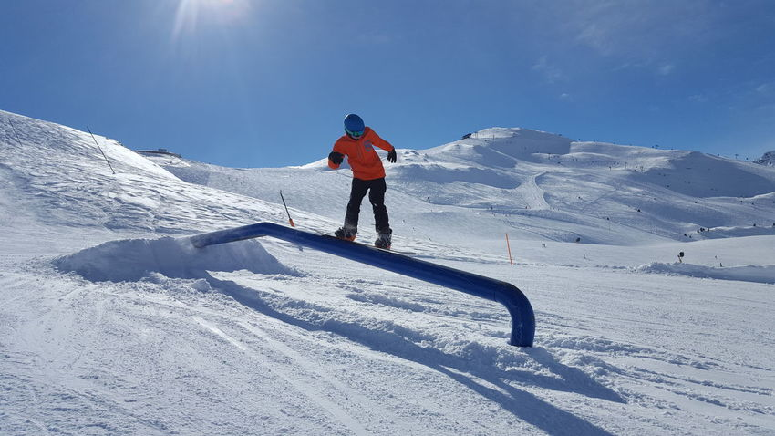 Snow Winter Cold Temperature Ski Holiday One Person Sport Winter Sport Adventure Skiing