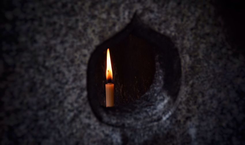 Candle in stone lantern Candles StoneLantern Japan Tranquility