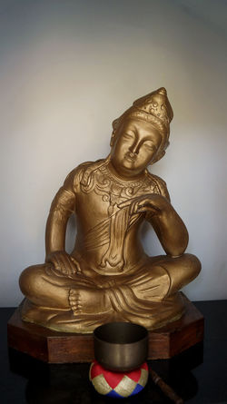 A golden Budha statue in a temple in Brasil. Art Buddha Close-up Creativity No People Ornate Peace Religion Temple - Building