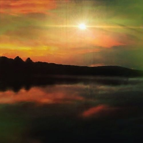 Digital Media Photography Sunset Tree Mountain Sun Sunlight Reflection Sky Landscape Cloud - Sky Space And Astronomy Star - Space Moon
