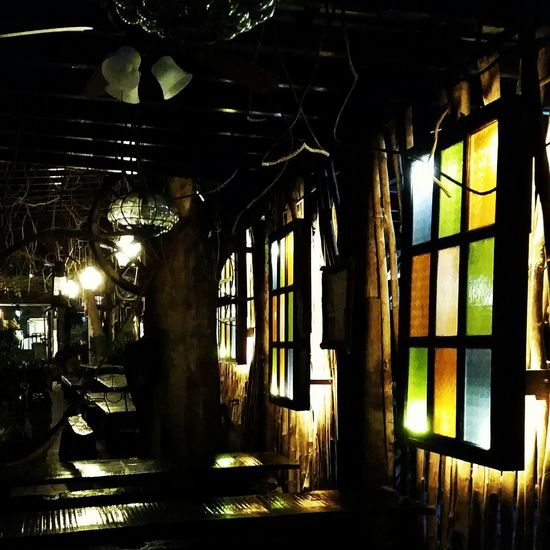 Windows? Guess again.. Walldecoration Restaurant ArtWork Night Lights Beautiful EyeemPhilippines