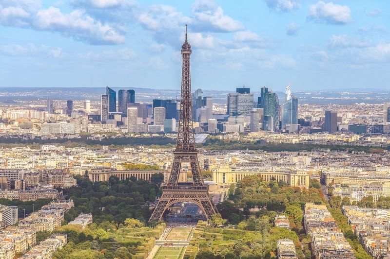 View of eiffel tower from above, paris, france