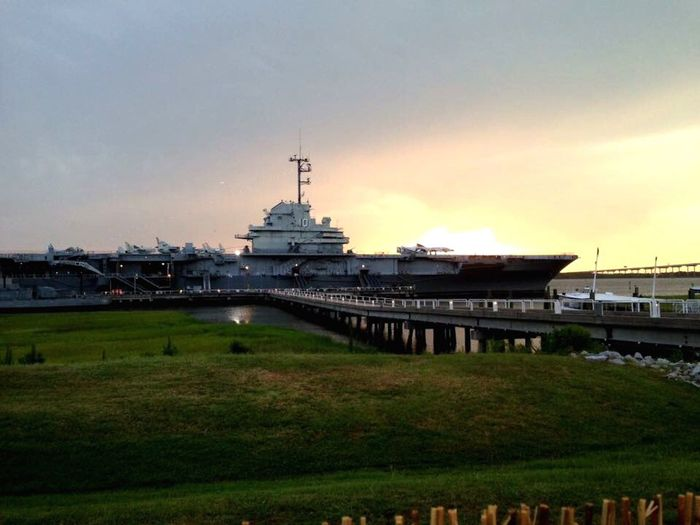 43 Golden Moments WWII History Airplane Flight Deck Sunset Museum Patriot Point CV-10 Yorktown Aircraft Carrier Charleston Harbor WWII