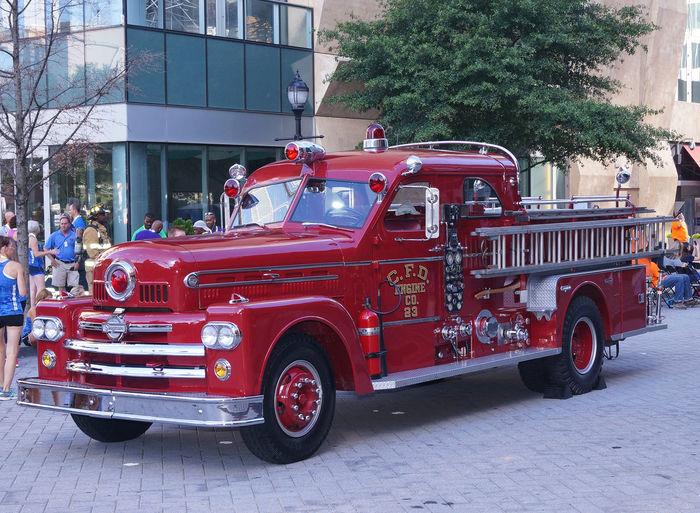 Antique Charlotte Fire Engine Antique Fire Engine Pumper Truck
