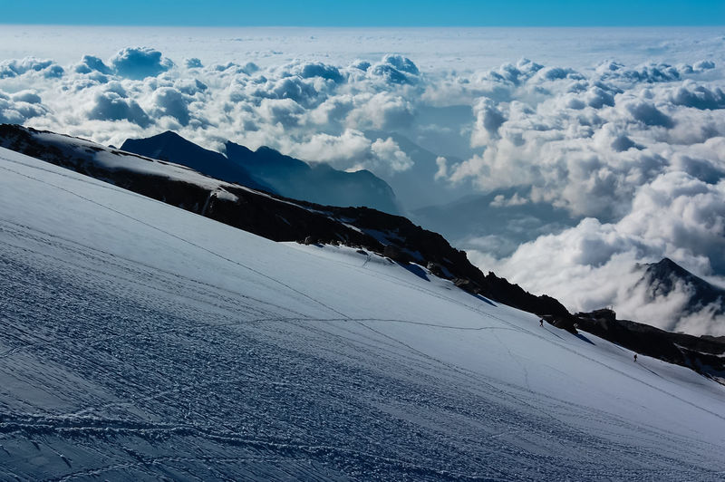 Monte Rosa Mountaineering Ski Touring Above The Clouds Alps Beauty In Nature Cloud - Sky Cold Temperature Covering Day Environment Land Landscape Mountain Nature Non-urban Scene Outdoors Scenics - Nature Sky Snow Snowcapped Mountain Tranquil Scene Tranquility White Color Winter