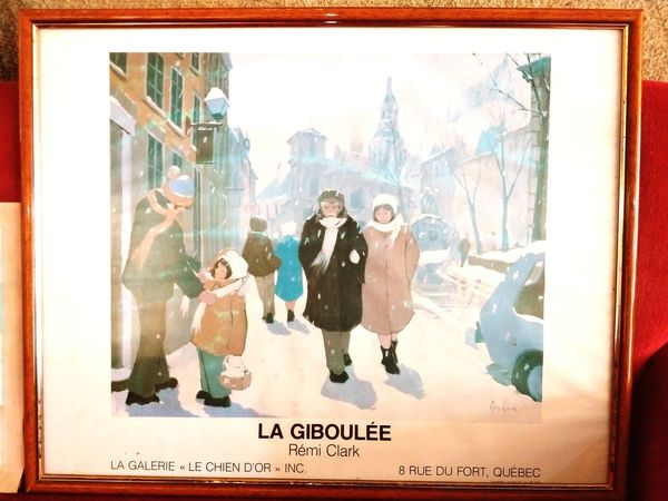 LA GIBOULĖE City Men Young Women Well-dressed Women Portrait Cityscape Old-fashioned Painted Image Fashion
