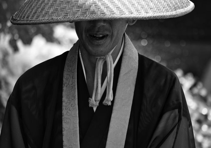 Devotion The Portraitist - 2017 EyeEm Awards The Street Photographer - 2017 EyeEm Awards EyeEm Best Shots Portrait Monk  Japan Japanese Culture One Man Only One Person Front View Adult Close-up People Day Monochrome EyeEm Best Shots - Black + White Blackandwhite Buddhist Buddhist Monks Streetphotography Looking At Camera Outdoors Streetphoto_bw
