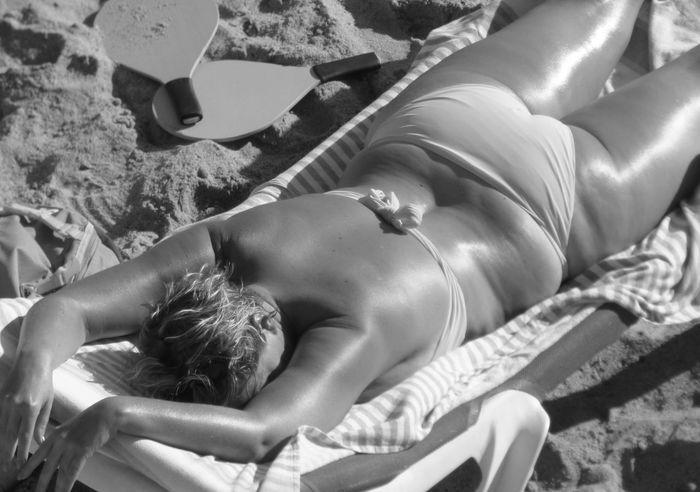 Beach Photography Bikini Black & White Black And White Bronzed Day Lifestyles Relaxation Vacations