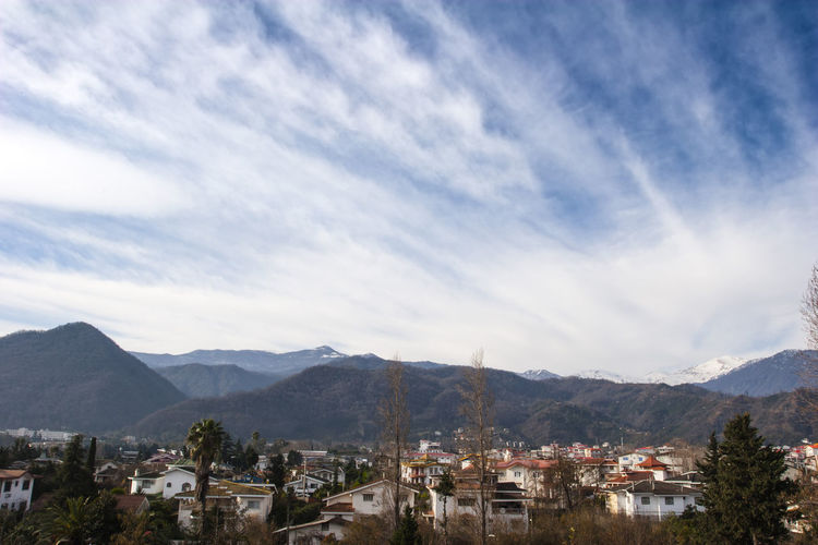North of Iran, Ramsar city Mountain Sky Built Structure Mountain Range Architecture Building Exterior Cloud - Sky Scenics - Nature Building City Landscape Beauty In Nature Environment Town Residential District TOWNSCAPE Range Mountain Peak Iran Mazandaran Iran Ramsar Canon20d Morning Morning Sky Travel
