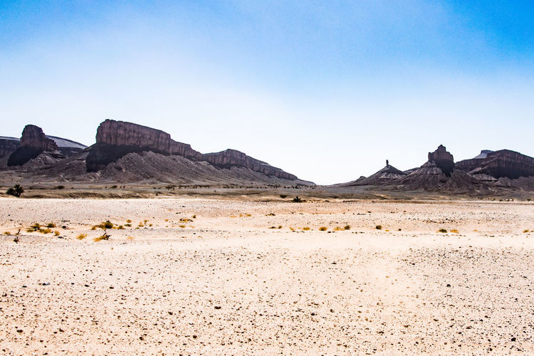 Mountain Clear Sky Desert Arid Climate Sand Dune Sand Barren Wild West Extreme Terrain Sky Rock Formation Rocky Mountains Physical Geography Rock - Object Arid Landscape Canyon Natural Arch The Great Outdoors - 2018 EyeEm Awards