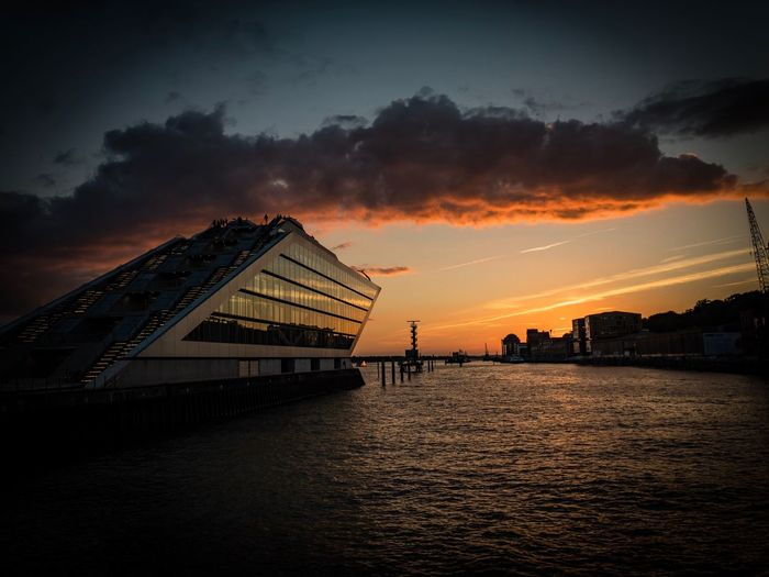 Dockland Nautical Vessel Harbour Dockland Sky Sunset Water Cloud - Sky Architecture Built Structure Sea Waterfront Outdoors Building Exterior
