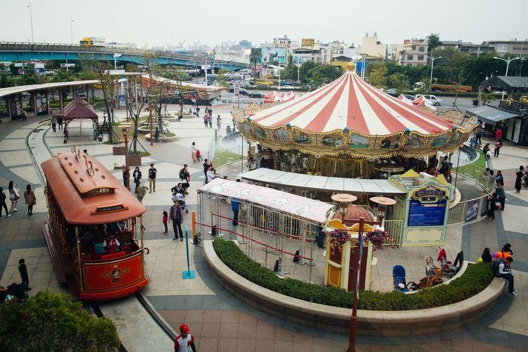 Kaohsiung Taroko Park Kaohsiung Tram Tram Ride Amusement Park Architecture Carousel City Leisure Activity Lifestyles