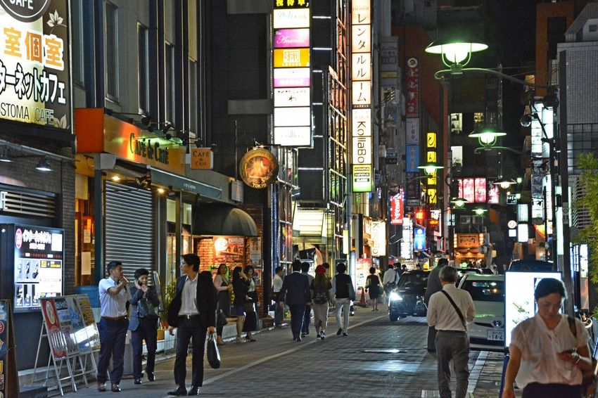 Tokyo Street Photography Tokyo Night Tokyo,Japan Building Exterior City Illuminated Large Group Of People Night Outdoors Real People Walking