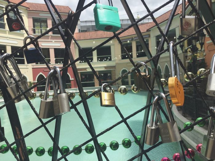 Metal Hanging Safety Padlock Day Lock Built Structure Large Group Of Objects Architecture Outdoors No People Building Exterior Close-up
