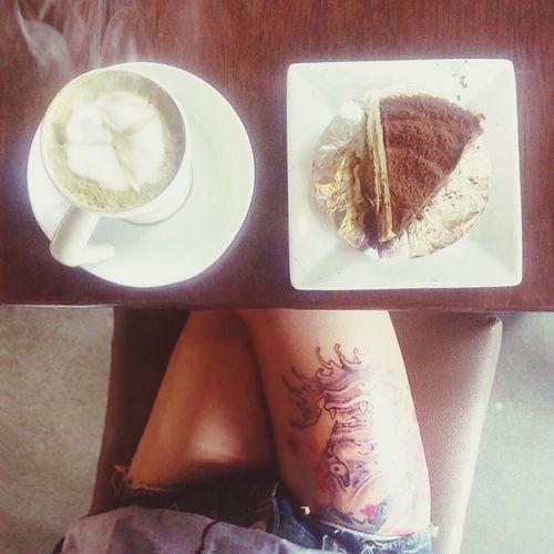 พลังงานหลักก่อนการเดินทางของวันนี้ … Greentea Latte Coffee Tiramisu Tattoo