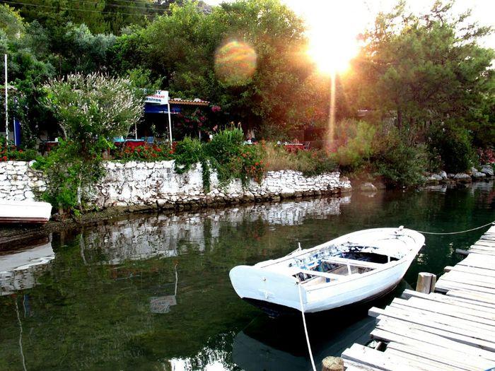 Reflection Beach Nature Paradise Green Boats Sailing Enjoying The Sunset Enjoying Life Natural Turkey