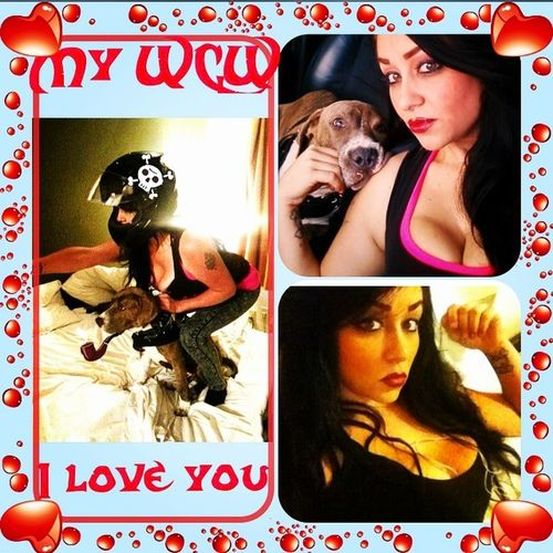 My WCW all day everyday!!! Cantstopwontstop Loveconquersall TellemAllGetBackCuzWeShootinEmDown SheLovesBikeCycles Myoneandonly Beautyandthebeast