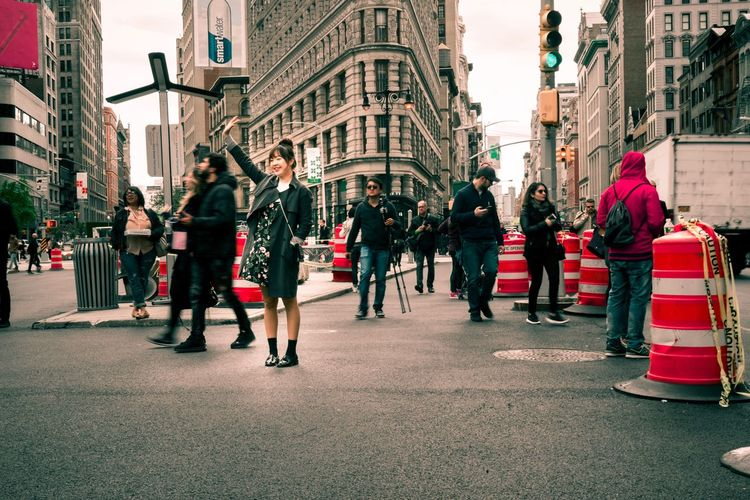 The Street Photographer - 2017 EyeEm Awards Architecture Building Exterior City Street Large Group Of People Real People Outdoors Crowd Tourist New York City Flatiron Building