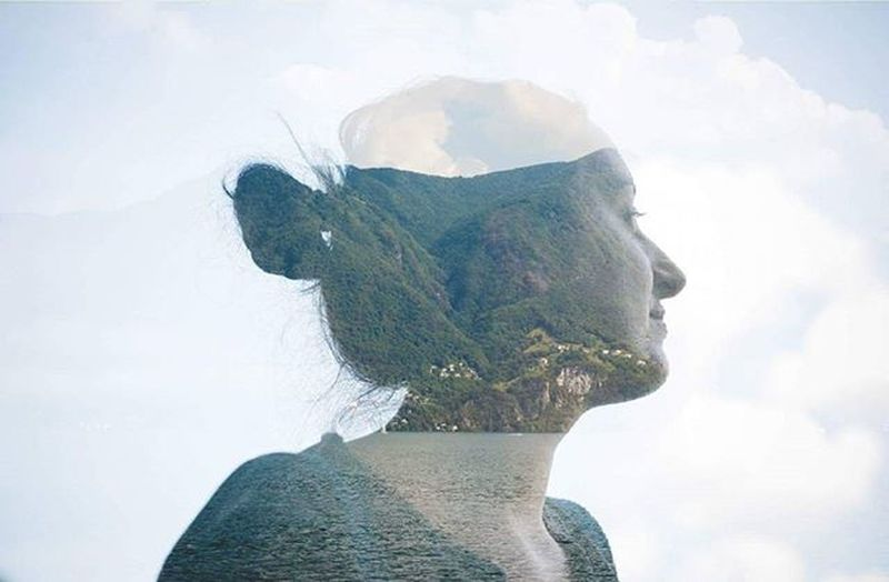 my love, my life. Vivaeddie Portrait Doubleexposure Nature Art Woman Profile Landscape Love Life Sky