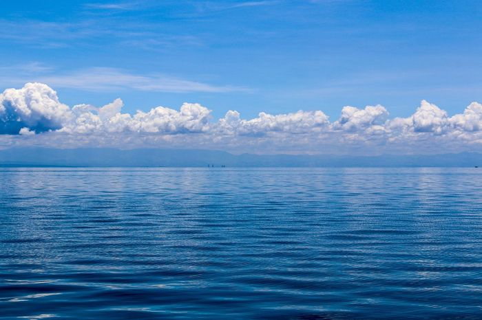 The Horizon Blue Nature Sea Water No People Beauty In Nature Pastel Colored Summer The Great Outdoors - 2017 EyeEm Awards Beach Horizon Over Water Sky Travel Destinations Day Scenics Clouds And Sky Clouds Outdoors