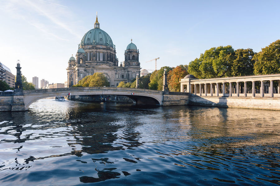 berlin cathedral at sunrise Architecture Architecture Berlin Berlin Cathedral Berliner Dom City Cityscape Daytime Dome Germany Government International Landmark New Day No People Outdoors Politics And Government Reflection Religion Sightseeing Sky Spree River Berlin Sunrise Travel Travel Destinations Water