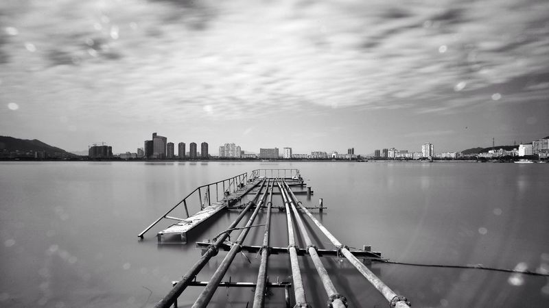 Long Exposure 富春江,富阳~ River Fuchun River Beautiful Day Check This Out China Black&white Black & White Blackandwhite Blackandwhite Photography