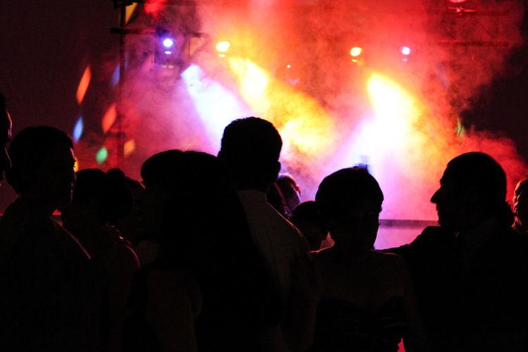 Crowd in nightclub DJing Dj Dj Set EDM, Concert Multi Colored Nightclub Nightclubbing Nightlife Rave